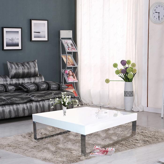 tisch couchtisch wei hochglanz wohnzimmertisch. Black Bedroom Furniture Sets. Home Design Ideas